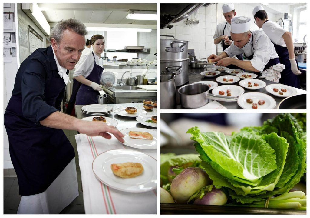 Alain Passard in the kitchen of L'Arpege, 3-star restaurant