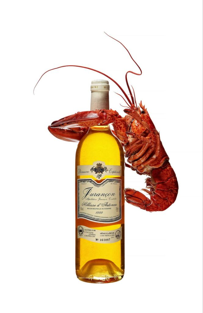 Lobster and White Wine bottle