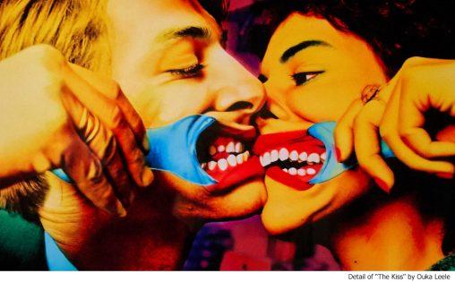 The Kiss by Ouka Leele (detail)